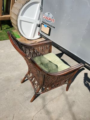 Brown Wicker Lounge Chair for Sale in Fresno, CA