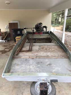 """FOR SALE 16' by 48"""" aluminum flat bottom bateau for Sale in Central,  LA"""