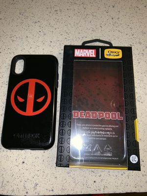 Dead pool otter box case for iPhone X and XS for Sale in Perris, CA