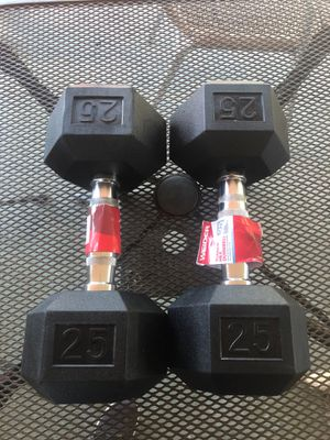 Dumbbells pair 2-25 lbs, New for Sale in Miami Shores, FL