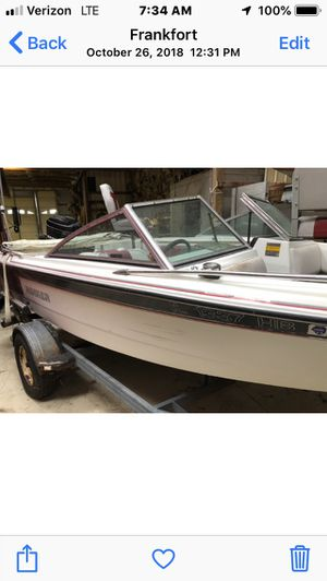 Fish ski boat for sale 115 hp merc $1000 or best offer. for Sale in Frankfort, IL
