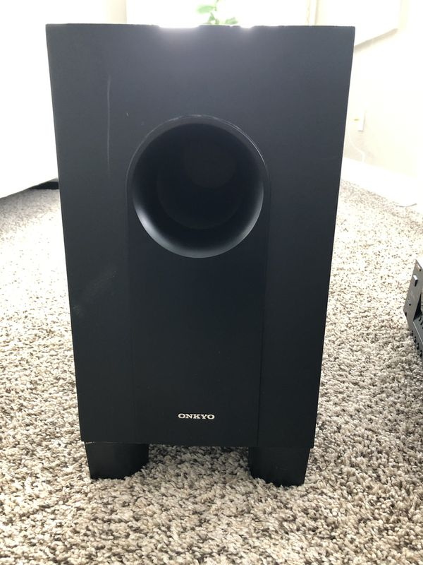 Onkyo HT- R340 with passive subwoofer