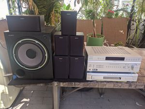 Sony receiver DVD CD changer and speakers for Sale in Whittier, CA