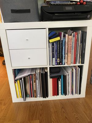 IKEA bookshelf with silver leafed top for Sale in Brooklyn, NY