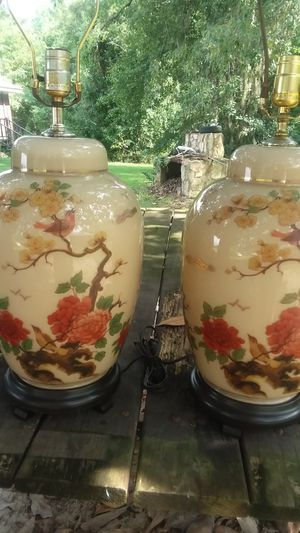 Set of Hand Painted Lamps for Sale in Lumber City, GA