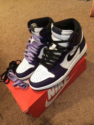 Air Jordan Court Purple 1 Retro Nike Air Max Dior Off White for Sale in Stonecrest, GA