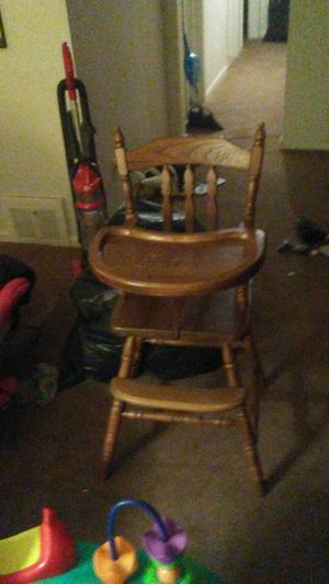 Antique baby hi chair for Sale in Detroit, MI