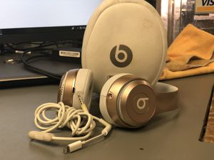 Headphones, Electronics... Beats Solo 2 Wireless W /Cord and Case ( Gold ) ... Negotiable for Sale in Baltimore, MD
