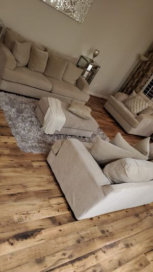 Cream living room couches for Sale in Litchfield Park, AZ