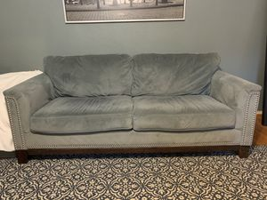 Excellent condition. Grey ultra suede sofa for Sale in Los Angeles, CA