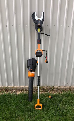Worx blower and chainsaw for Sale in North Brookfield, MA