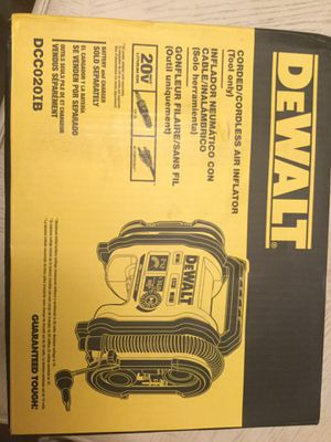 Dewalt corded or corless air inflator for Sale in Anaheim, CA