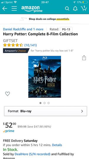 Harry potter : Complete 8 Film collection Bluray for Sale in Dublin, OH
