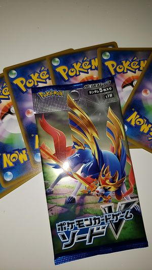 Pokemon Japanese Sword Set Booster pack with 20 random Japanese cards for Sale in Concord, CA