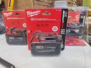 Milwaukee batteries for Sale in Phoenix, AZ