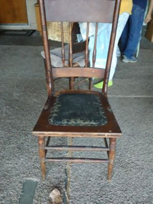 Vintage Leather and Wicker Chairs for Sale in Fresno, CA