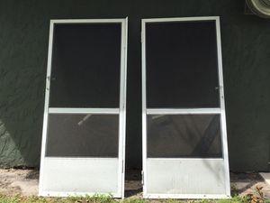 Screen doors $40 for both for Sale in Lakeland, FL