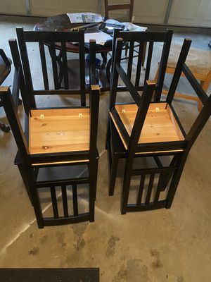 Black Kitchen Table Chairs for Sale in Atlanta, GA