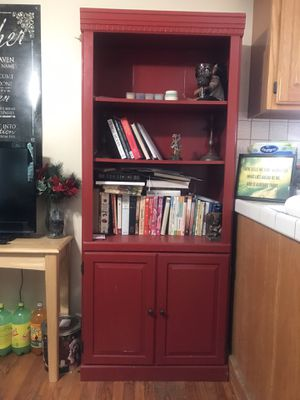 2 red bookshelves for Sale in Garden Grove, CA