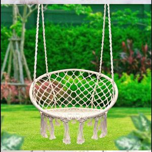 Hanging Cotton Rope Macrame Hammock Chair Swing Outdoor Home Garden 300lbs for Sale in Rosemead, CA