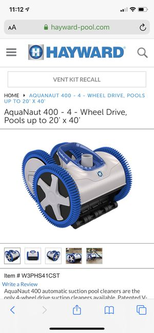 Hayward Aquanaut 400 Suction Drive 4-wheel Pool Cleaner for Sale in Rancho Cucamonga, CA