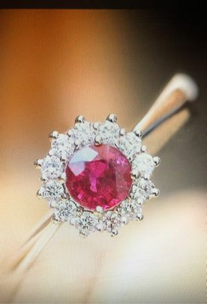 Gorgeous 925 sterling silver round cut Ruby ring for Sale in Buckeye, AZ