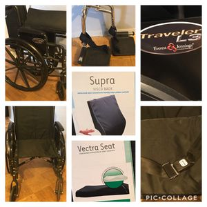 Ernest & Jennings Wheelchair & New Seat/Back Cushions for Sale in The Bronx, NY