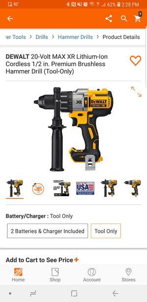 Dewalt Brushless XR hammer drill 3 speed DCD996 only tool (solo la herramienta) precip firme for Sale in Winter Springs, FL