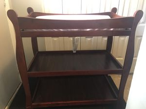 baby changing table (wood) for Sale in Schaumburg, IL