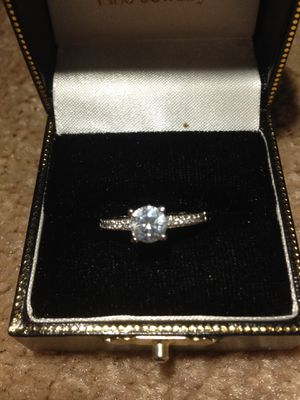 Very beautiful Sterling Silver Ring with Zirconia center 1.90 CTTW stone Multi pave Engagement Ring size 7.5 to 8 for Sale in Nashua, NH