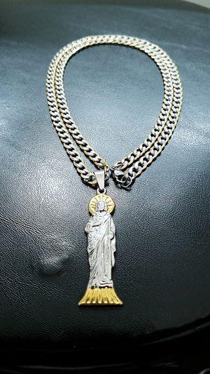 San Judas tadeo with 26inch chain for Sale in Phoenix, AZ