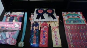 64 AWARDS and RIBBONS for Students or Competitions for Sale in Manteca, CA