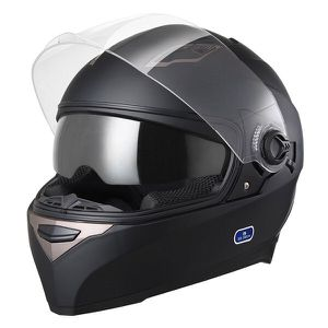 Motorcycle Full Face Helmet Dual Visors Lightweight ABS Air Vent Motorbike Touring Sports with Bluetooth headset for Sale in Bellflower, CA