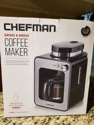 Brand new coffee maker with grinder, dual function for Sale in Bonita Springs, FL