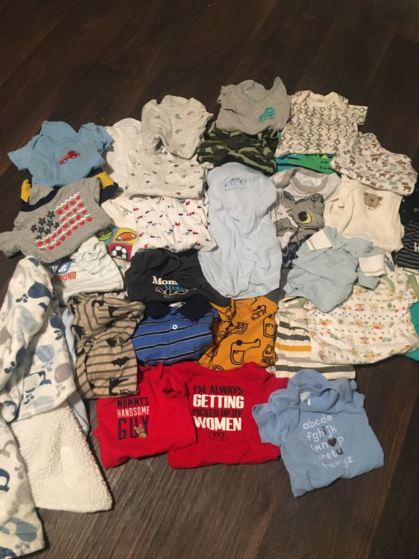 NB & 0-3 month baby boy clothing