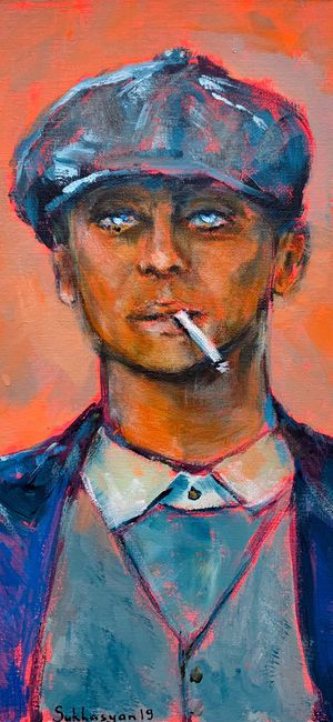 Thomas Shelby. Original acrylic painting on canvas panel 11x14 inches. Buy from the painter 👩🏻🎨 for Sale in Los Angeles, CA