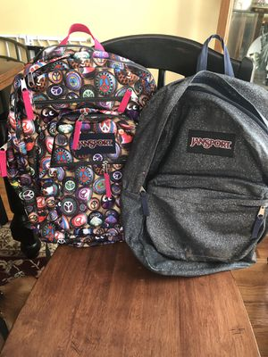 2 Jansport backpacks for Sale in Woodbridge, VA