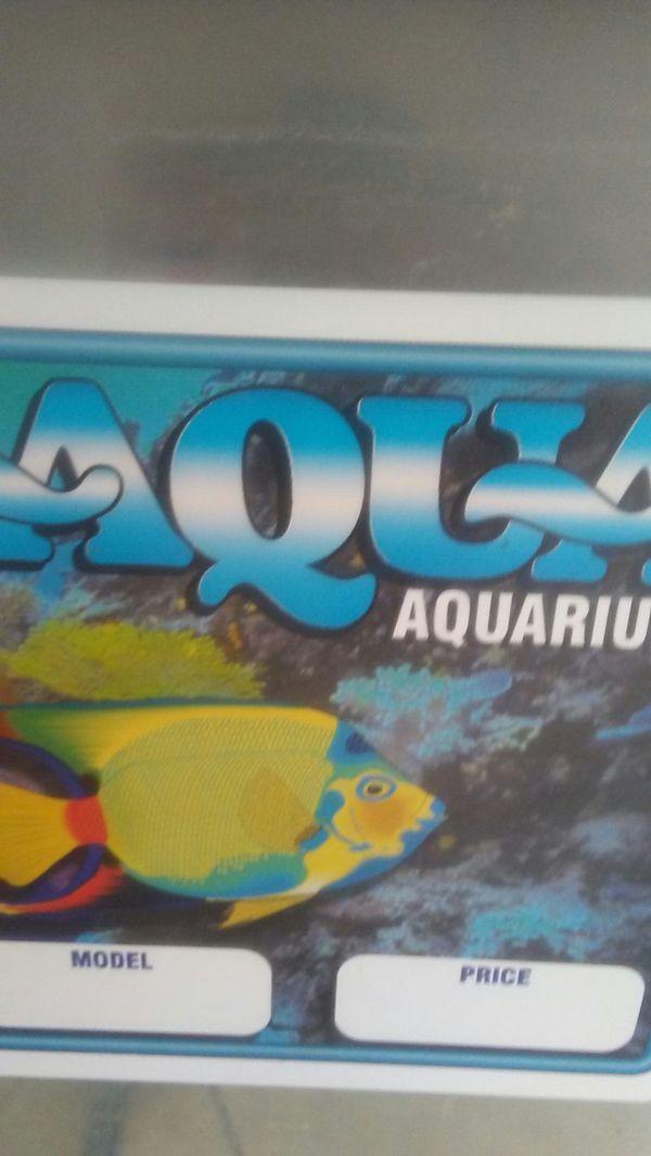 Aquarium and filters.