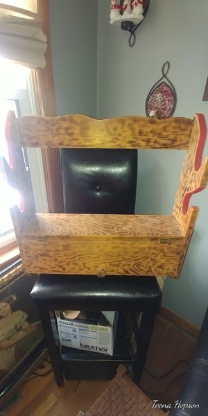 Solid wood rack with door for Sale in Bristol, VA