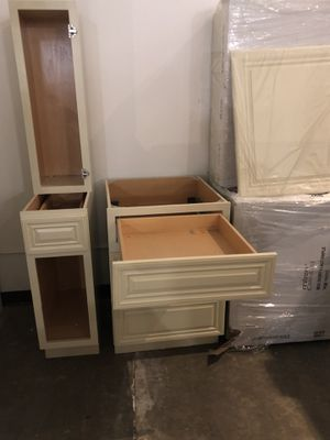 Upper and lower cabinets. Blowout prices 85% mark down. Kitchen. Bath. Laundry room and more. for Sale in Rancho Cordova, CA
