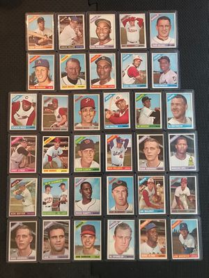 1966 Topps Vintage baseball card lot of 32 cards all in mint condition for Sale in Tampa, FL