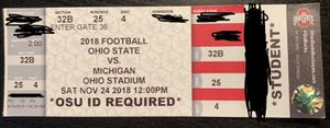 2 Tickets for the Ohio State v. Michigan Game for Sale in Lewis Center, OH