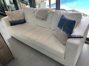 White Leather Sofa Couch - Sofa Piel Cuero Blanco for Sale in Miami, FL