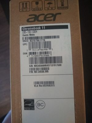 Brand New Acer Laptop Sealed in box- Acer Chromebook 11 CB3-132-COEH for Sale in Houston, TX