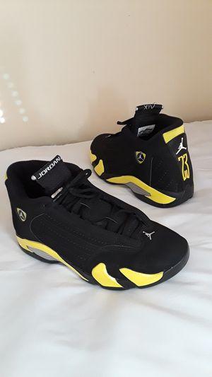 Nike Air Jordan 14 Thunder Volt Black Size 8 MEN and 9.5 WOMEN for Sale in Marietta, GA