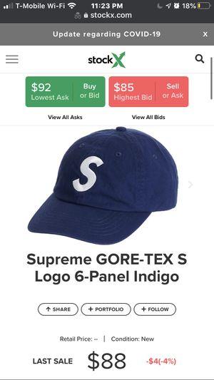 Supreme GORE-TEX S Logo 6-Panel Indigo (DS) for Sale in Garden Grove, CA