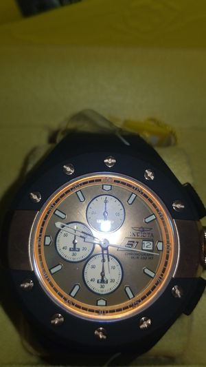 Invicta men 52 mm Rose gold and Black brand new never worn still in the box for Sale in Wolcott, CT