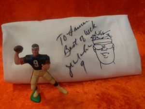 Chicago Bears Jim McMahon autographed t shirt & action figure for Sale in Milton, MA