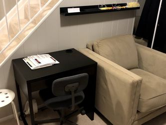 IKEA Brown Desk And Rolling Chair for Sale in Annandale,  VA