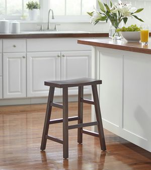 """Mainstays Counter Height Saddle Bar Stool, 24"""", Brown [Open-Box] [Item 2078] for Sale in Irving, TX"""